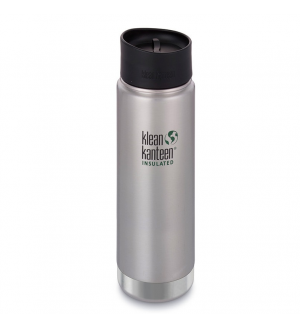 Термобутылка Klean Kanteen Insulated Wide Cafe Cap Brushed Stainless 592мл